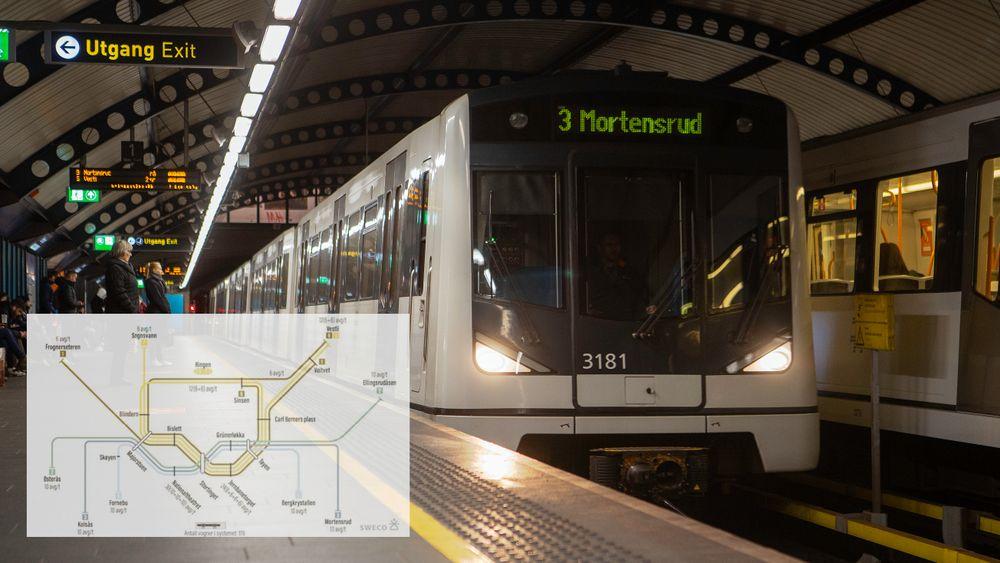 Ruter og Sporveien foreslår en sakseløsning mellom ny og gammel t-banetunnel når det skal bygges ny tunnel i Oslo.