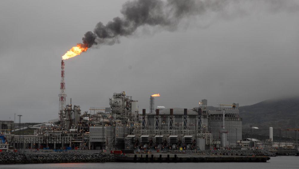 Melkøya, kalt Hammerfest LNG, slipper ut 935.000 tonn CO2 i året. Det er en betydelig andel av klimautslippene i norsk fastlandsindustri.