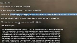 Angivelig et skjermbilde fra en datamaskin hos det spanske konsulentselskapet Everis etter at selskapet ble angrepet mandag denne uken.