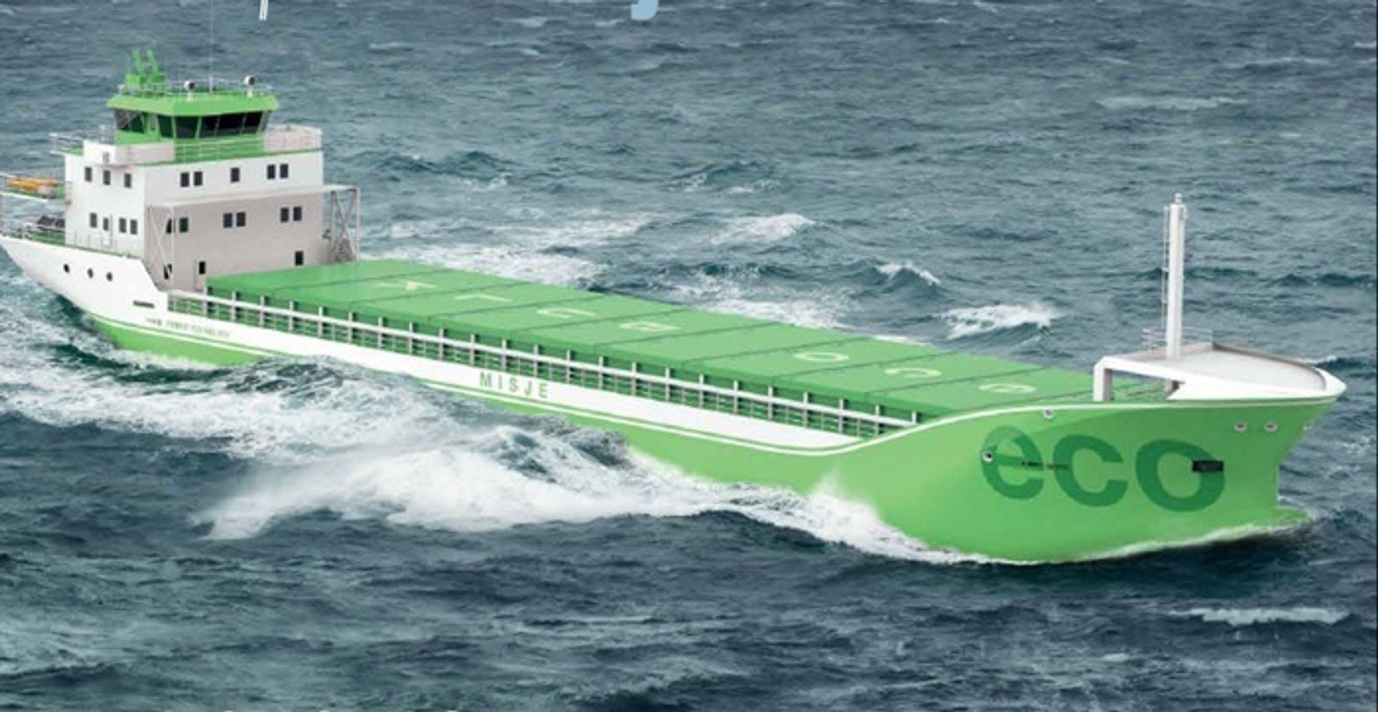 Misje Rederi skal bygge fem-seks nye skip med nesten 50 prosent lavere utslipp per tonn last sammenliknet med dagens flåte.