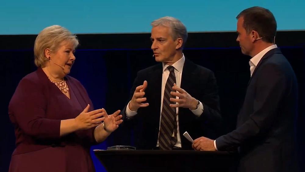 En tilsynelatende harmløs debatt om kullkraft i utviklingsland ble til et kraftig oppgjør mellom Erna Solberg (H) og Jonas Gahr Støre (Ap) om Oljefondet som politisk redskap. Ordstyrer var Zero-leder Marius Holm.