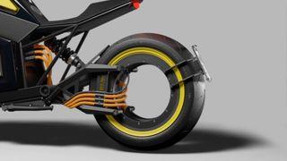Denne motorsykkelen er finsk, futuristisk og har elektrisk motor i et navløst bakhjul