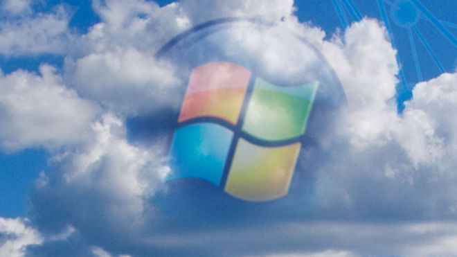 Windows-logo i skyen.