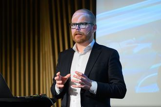 Sjefredaktør Gard Steiro i VG. Her under den store kildedebatten på Norsk Redaktørforening sitt høstmøte i Tromsø 2019.