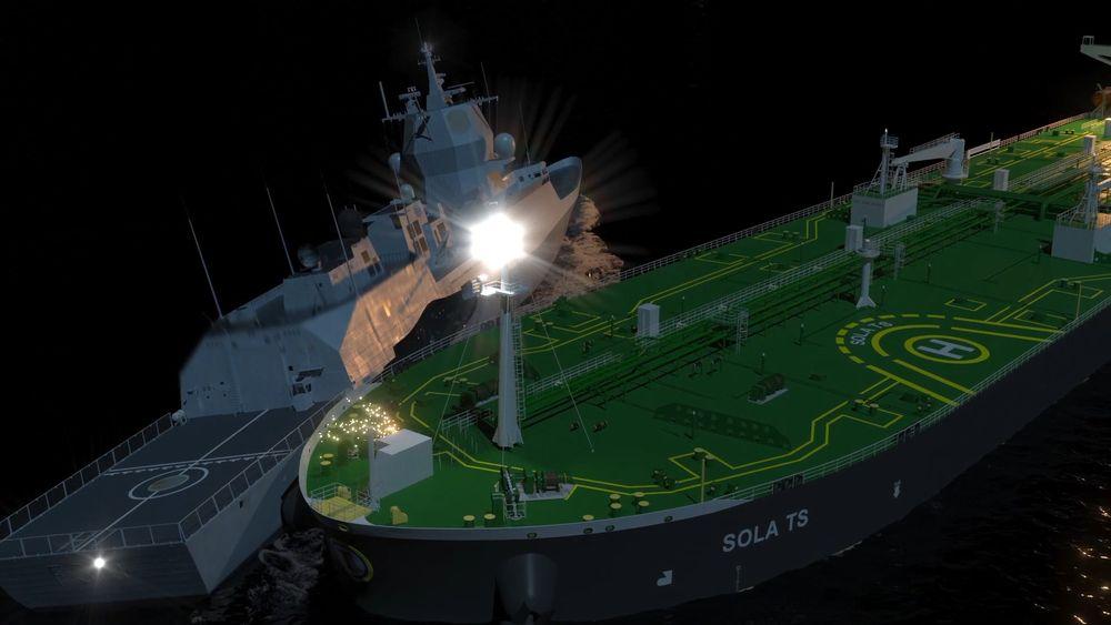 Animasjonen fra Havarikommisjonen som viser kollisjonen.