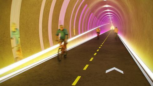 Syklistene får egen tunnel. Det kan gi ekstra kjørefelt for bilene på E39
