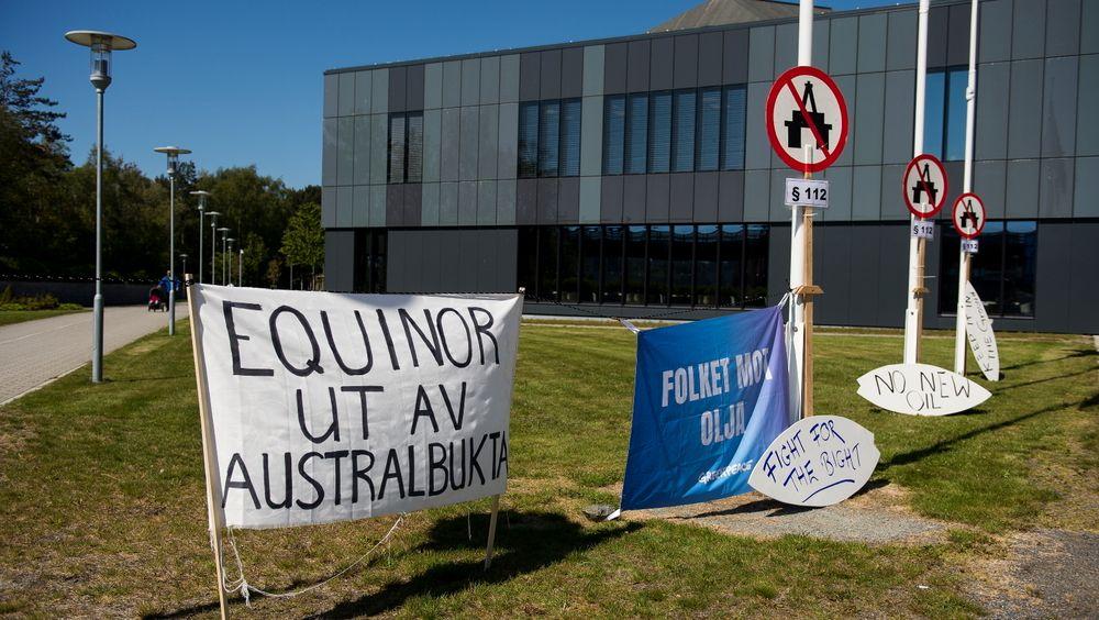 Equinors planlagte oljeleting i Australbukta er møtt med protester både i Norge og Australia.