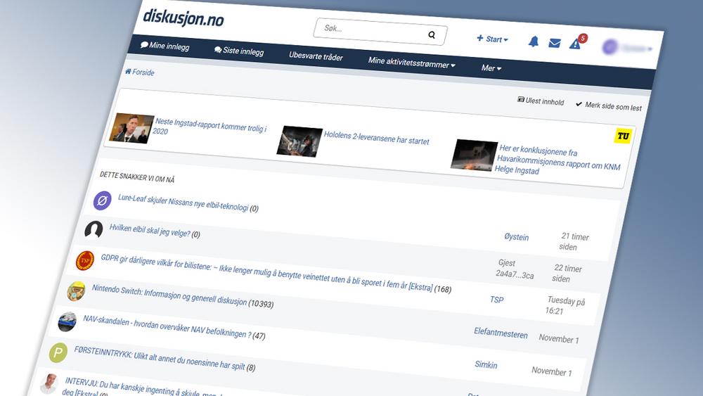 Diskusjon.no får nytt design. Tjenesten leverer kommentarfelt til blant annet TU.no og Digi.no. Med nærmere 25 millioner innlegg, er dette Norges desidert største debattforum for teknologi.