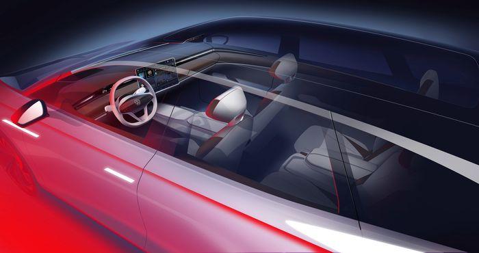 Dashbordet ser ut som en blåkopi av Tesla Model 3.