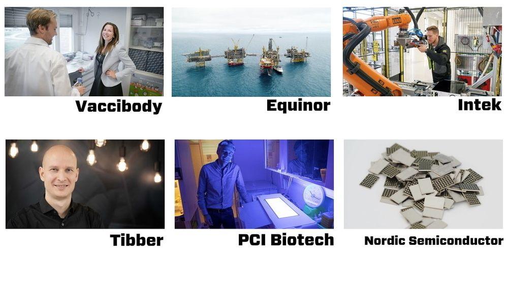 Dette er de seks kandidatene til Norwegian Tech Awards 2019.