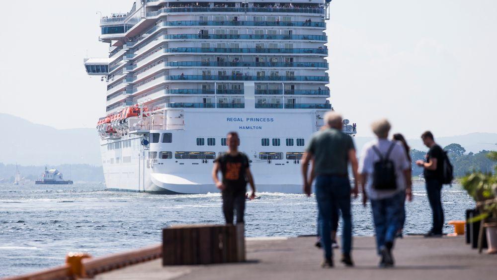NHO Reiseliv ønske å kutte i cruisetrafikken etter ny rapport om utslipp knyttet til forbruk.