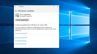 Windows 10, versjon 1909 er klar for installering.