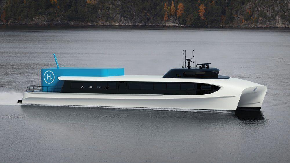 Aero er ett av hurtigbåtkonseptene med nullutslipp som er blitt til gjennom et større utviklingsprosjekt bestående av 11 fylkeskommuner og 5 industrigrupper. Sogn og Fjordane har fulgt opp med nullutslippskrav i nye anbud, som påtroppende fylkesrådmann i Vestland nå vil utsette.