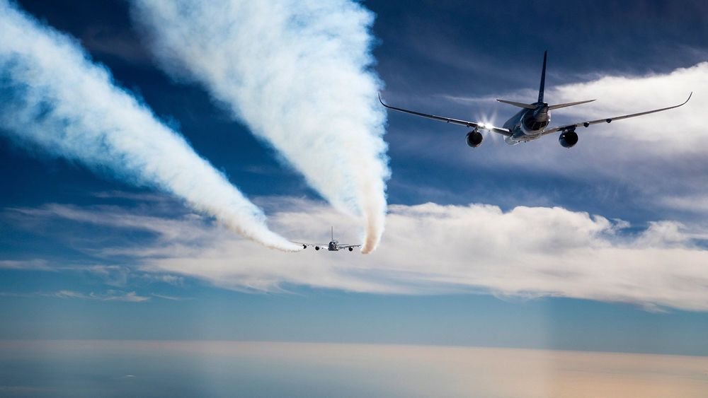 Airbus skal i 2020 starte nye testflygninger der passasjerfly flyr tettere enn i dag slik at følgeflyet kan spare drivstoff.