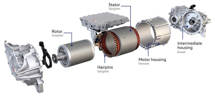 Elmotoren i ID.3 kalles APP 310, og får deler fra en rekke ulike fabrikker i Tyskland.