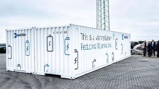 Maersk vil spare drivstoff og CO2-utslipp med containerbatteri