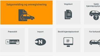 Kjøretøytjenester på vegvesen.no.