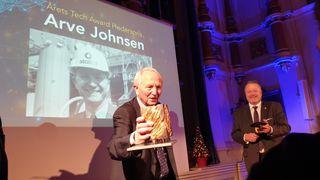 Tech Awards: Årets hederspris til Statoil-nestor Arve Johnsen, som tok salen med storm under utdelingen