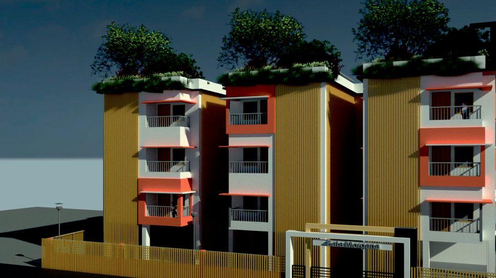 Idéen til studentene gikk ut på å la fasader i bambus ta til seg vann ved hjelp av kapillæreffekten.