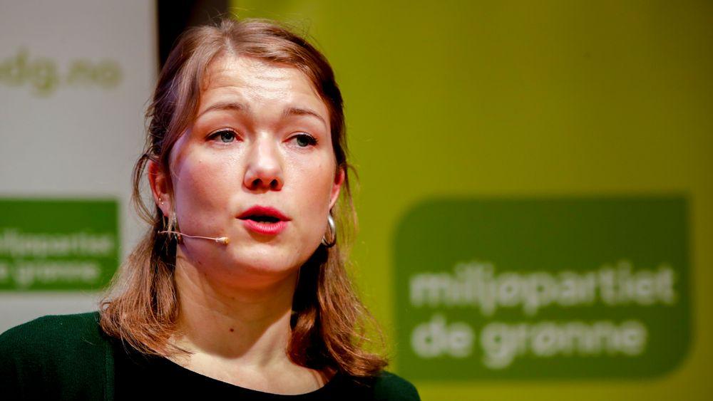 Stortingsrepresentant Une Bastholm la torsdag fram MDGs alternative statsbudsjett for 2020.