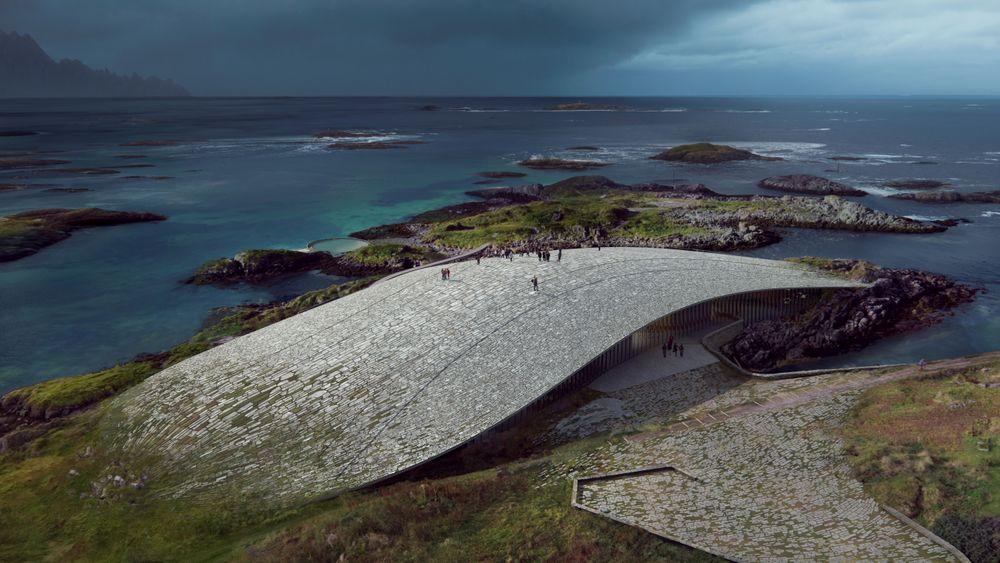 Det danske arkitektkontoret Dorte Mandrup AS slo blant annet Snøhetta da de vant konkurransen om å tegne hvalobservasjonssenteret på Andøy.