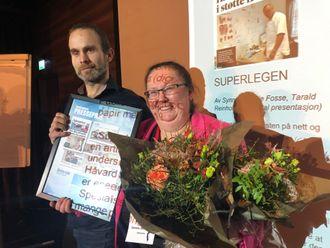 Synnøve Skeie Fosse og Tarald Reinholt Aas vant for årets sak