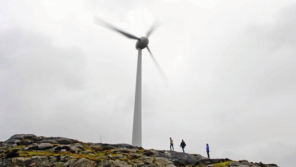 Dette bildet fra Utsira illustrerer artikkelforfatterens ønske om en storstilt satsing på videreforedling av vindkraft til havs med lagring av CO2 i Utsira-formasjonen.
