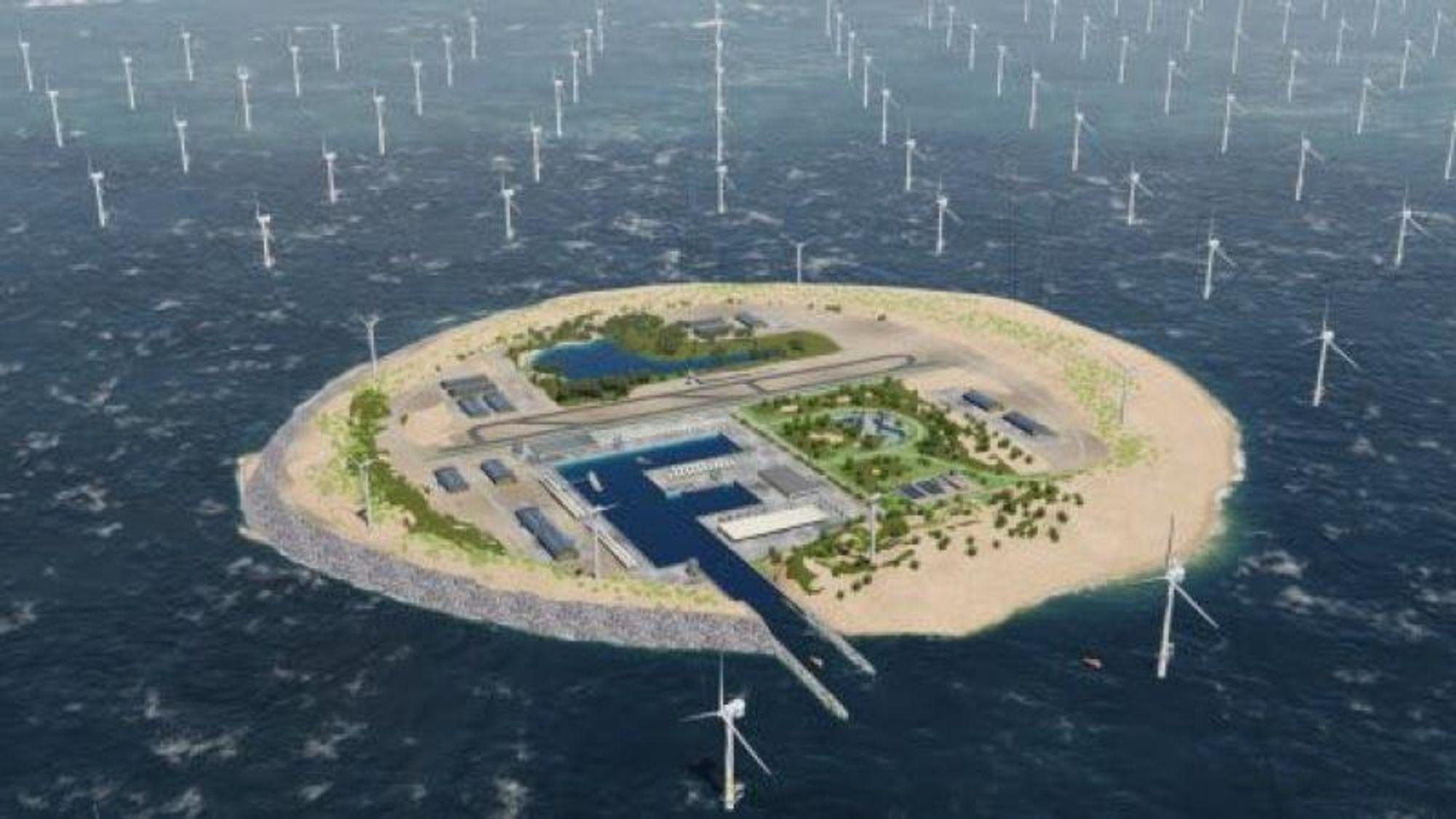 Vil bygge vindkraft-øy utenfor Bornholm