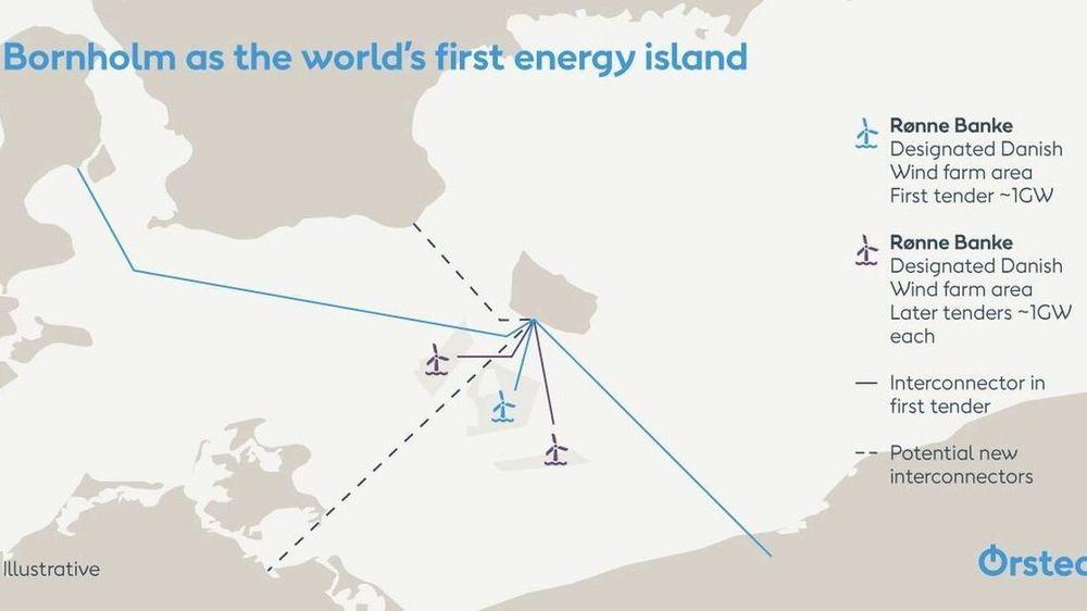 Det danske energiselskapet Ørsted vil gjøre Bornholm om til en energiøy som gir strøm til flere av landene rundt Østersjøen.