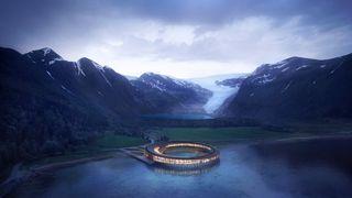 Skal bygge spektakulært hotell ved Svartisen. Samtidig er det tatt pant i varebilen deres for én million etter rettskrangel