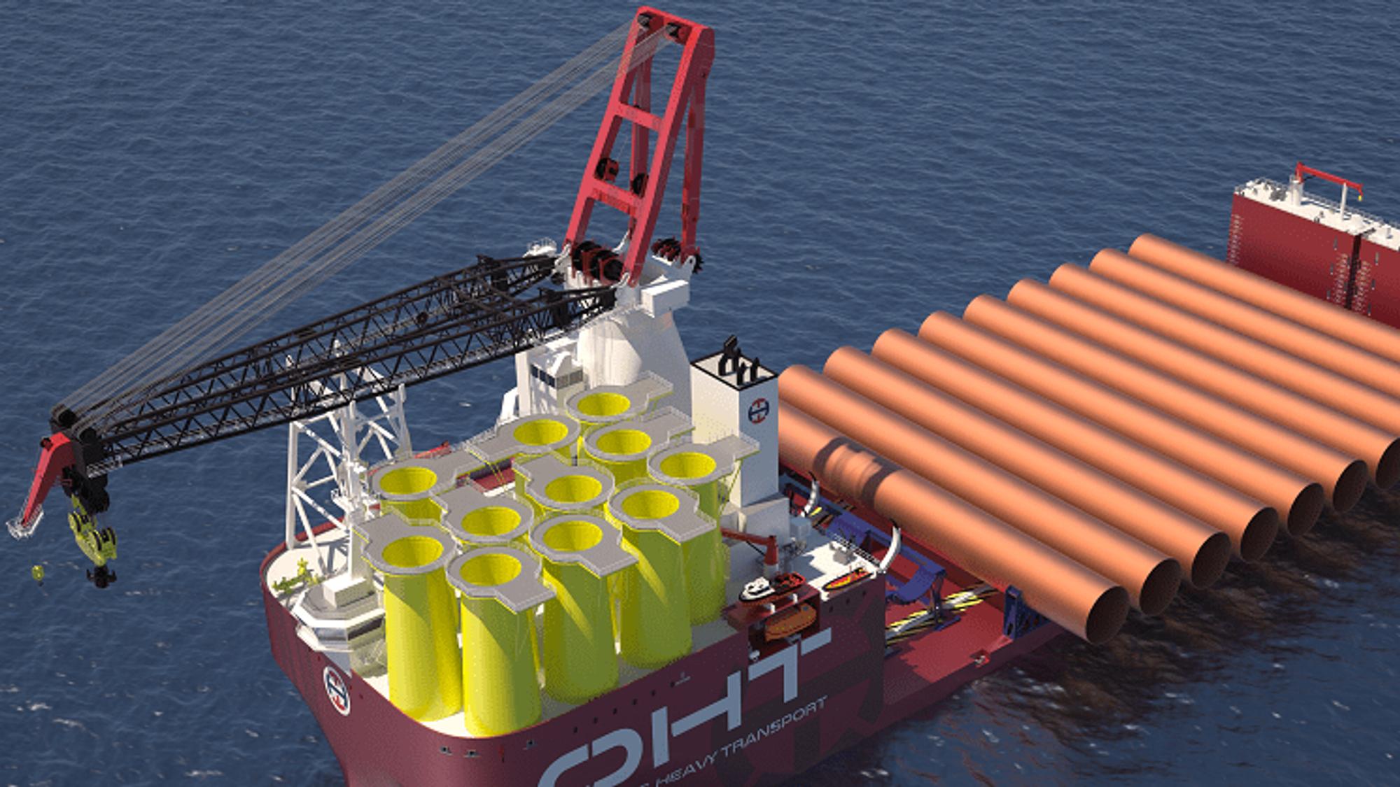 OHTbygger verdens største vind-installasjonsskip,Alfa Lift, som skal kunne frakte og installere 10 fundamenter av gangen. Skipet skal være ferdig i 2021.