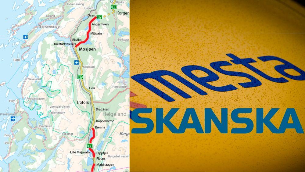 Til tross for at Skanska, med Mesta som underleverandør på drift og veldikehold, vant kontrakten på Helgeland sør endte de to partene i en heftig strid der beskyldningene hagler.