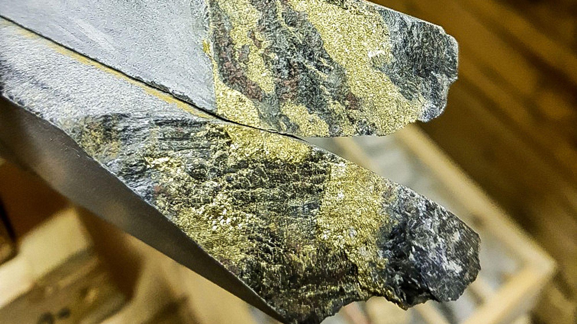 Overraskelse: Den utvidede malmressursen i Nussir som nærmest ble funnet ved en tilfeldighet har vist seg å være av uvanlig høy verdi med 10 prosent kobber i tillegg til palladium og platina.