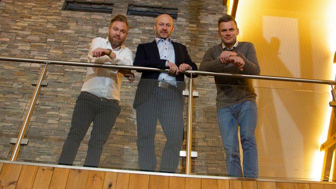 Anders Martinussen Pedersen, Håkon Svendsen og Tron Braathe i Braathe-gruppen.