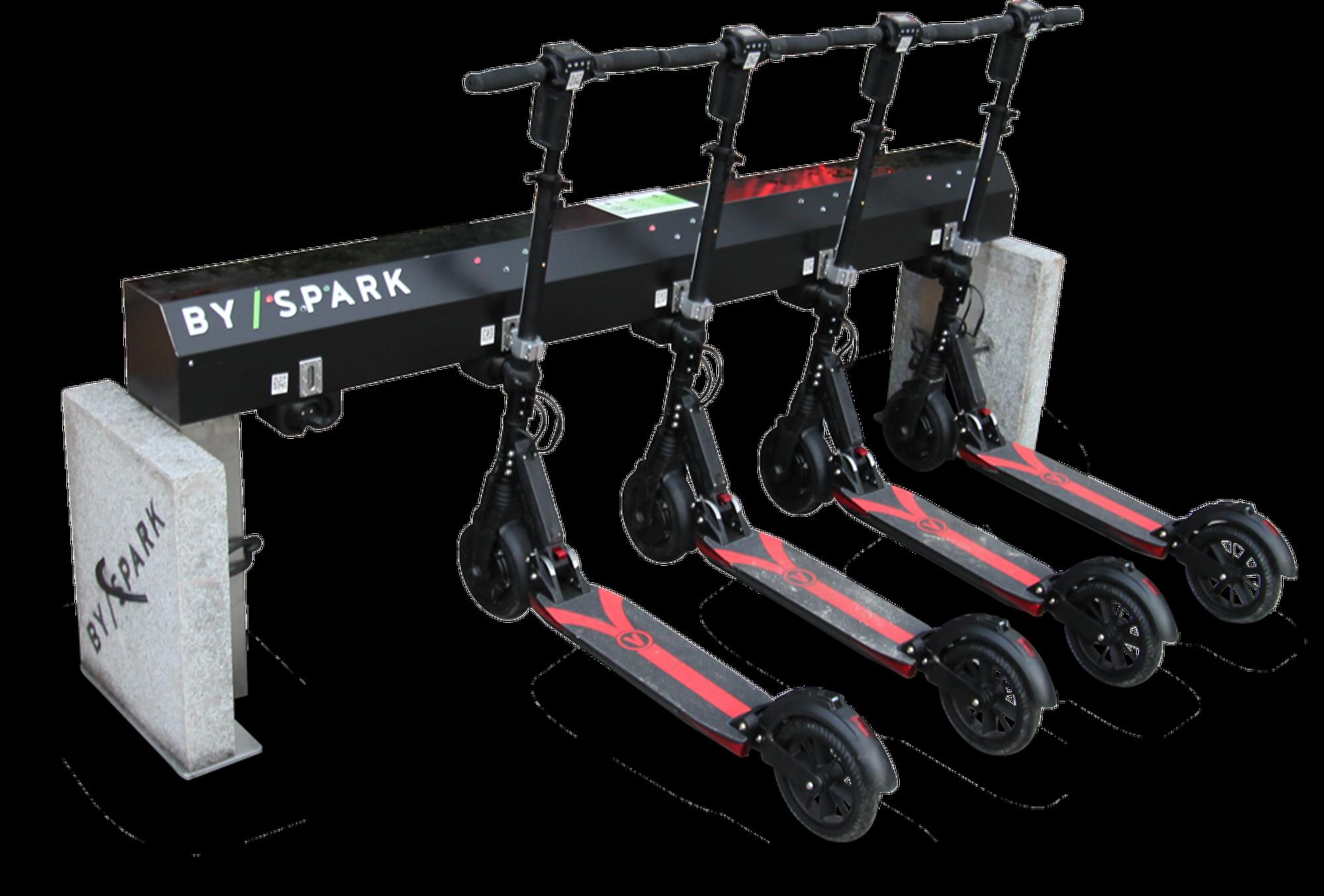 Ved å kreve at elsparkesyklene monteres i en ladestasjon etter bruk, unngår Byspark at syklene deres slenges rundt.