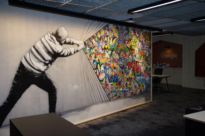 Interiørdetalj fra lokalene til Google Norge på Aker Brygge.