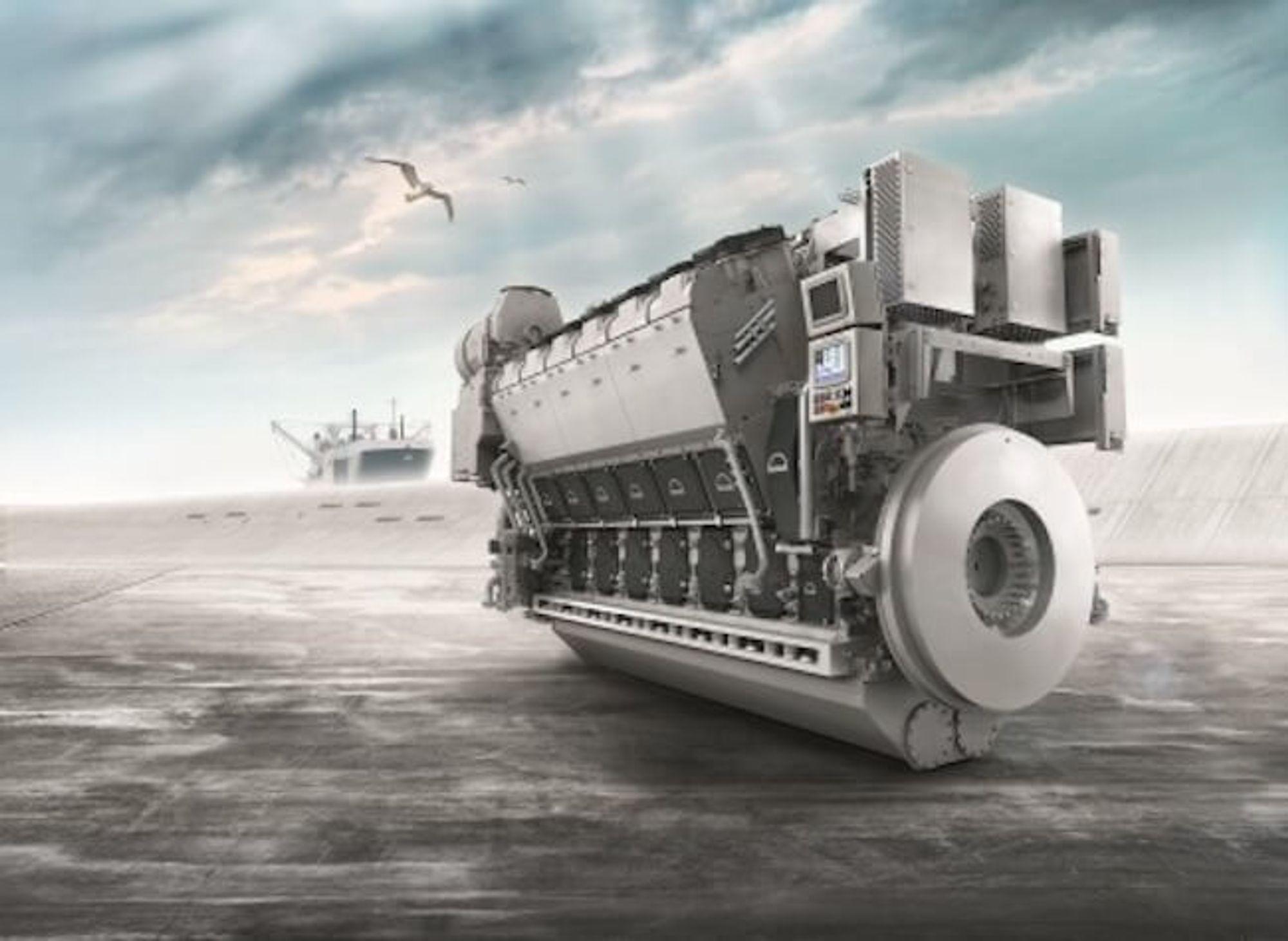 MAN Energy Solutions har utviklet en LPG dual fuel-motor som kan bygges om til ammoniakk-drift.