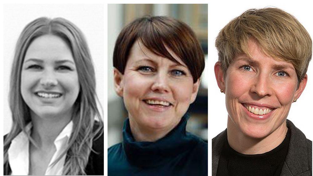 Malin Eriksen (t.v.), Anne Gro Kjørstad og Nora Gullbekkhei forteller om hva de ønsker å få ut av et jobbintervju.