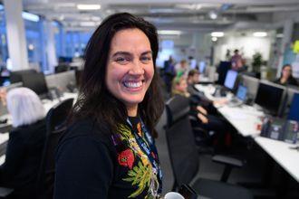 Sjefredaktør Frøy Gudbrandsen i Bergens Tidende. Her frå første dag i sin nye jobb, desember 2019.