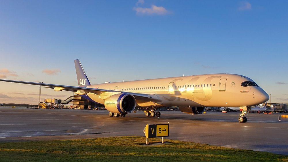 SAS-flyet «Ingegerd Viking» på Kastrup 29. november. Onsdag flyr A350-flyet til Norge for første gang.