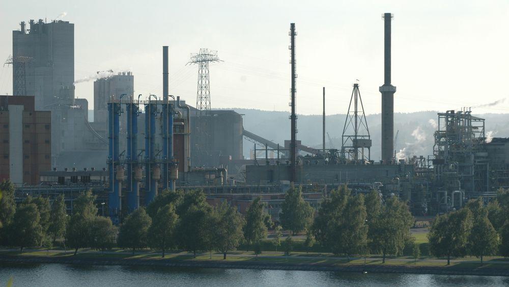 Landets største industriområde ligger på Herøya i Porsgrunn. Yaras gjødselfabrikk (bildet) brukte i fjor 698 GWh elektrisk kraft.