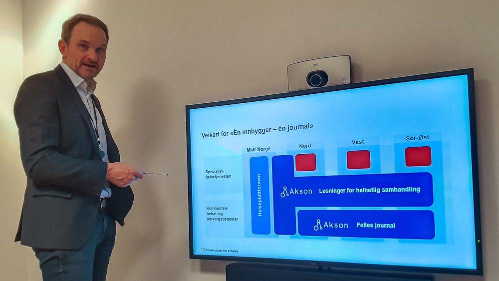 Vil ha orden i de kommunale helsejournalene: Divisjonsdirektør for strategi i Direktoratet for e-helse, Karl Vestli.
