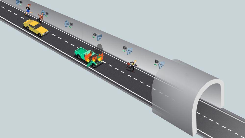 Vet hjelp av intuitive lydsignaler som automatisk reagerer på brann og røyk mener Trafsys det skal bli enklere for personer å navigere i tunnel under brann.