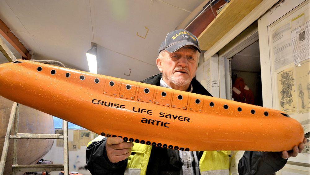 Banan: Torpedolivbåten har Magnar Reigstad designet med en svak bue i lengderetningen som en banan. I tillegg skal den være kulerund i begge ender.