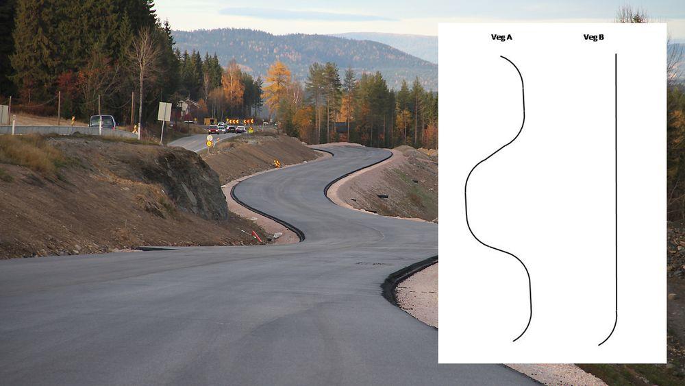 Kan du gjette hvilken av veiene som er farligst? Svaret overrasker mange.