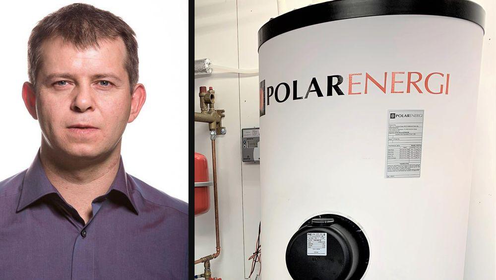 Lars Hansen fikk ideen til det nye varmepumpe-systemet i 2003. Tankene til Polar Energi produseres i Abruzzo-regionen i Italia.