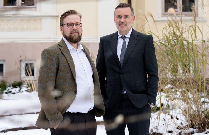 Runar Kjellstad Nygård og Jan-Erik Larsen.