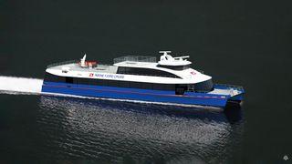 Elektrisk katamaran i 20 knop til Lysefjorden i april – største batteripakke i hurtigbåt til nå