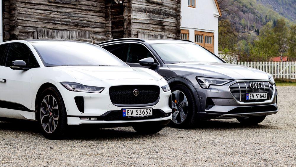 Jaguar I-Pace og Audi E-Tron er to av elbilmodellene som har solgt relativt godt i år, utenom salgsuksessen Tesla Model 3. Rekordåret for elbiler er én forklaring på at salget av bilbensin og autodiesel fortsetter å falle.