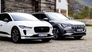 Jaguar I-Pace og Audi E-Tron.